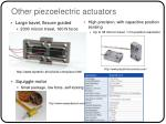other piezoelectric actuators