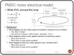 pmdc motor electrical model