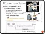rc servo control system