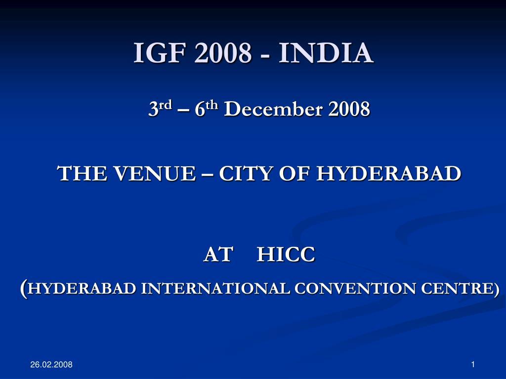 igf 2008 india l.