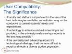 user compatibility the significance