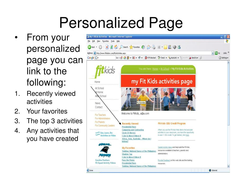 Personalized Page