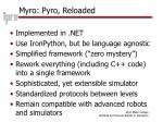 myro pyro reloaded