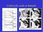 carboxylic acids at summit