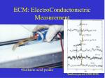 ecm electroconductometric measurement