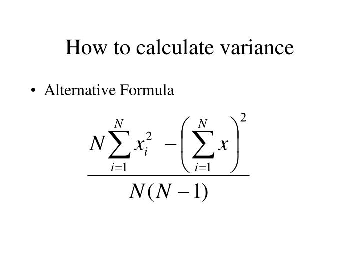 How to calculate variance3