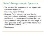 fisher s nonparametric approach
