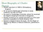 short biography of charles darwin
