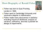 short biography of ronald fisher