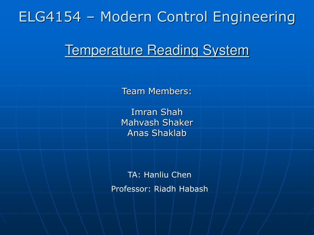 temperature reading system l.