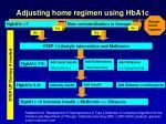 adjusting home regimen using hba1c