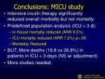 conclusions micu study