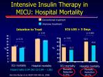 intensive insulin therapy in micu hospital mortality