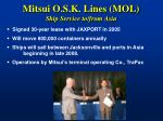 mitsui o s k lines mol ship service to from asia