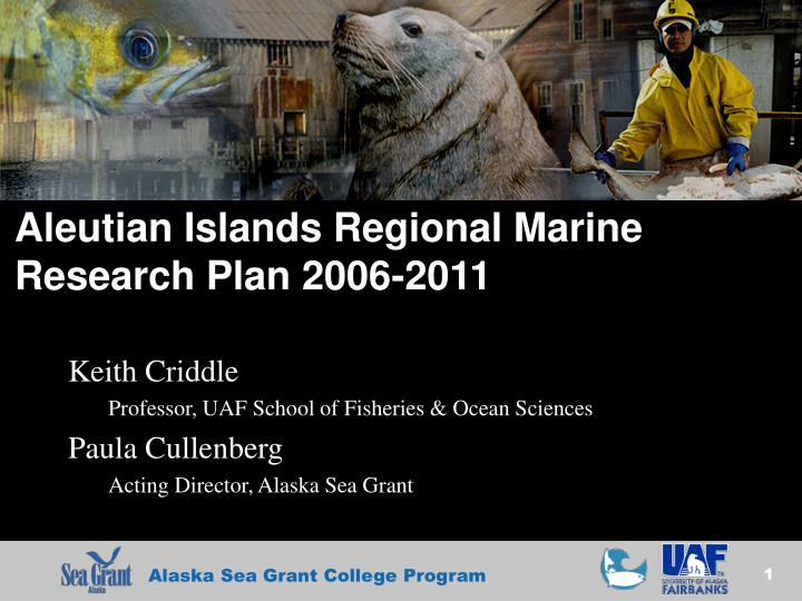 aleutian islands regional marine research plan 2006 2011 n.