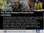 the ocean research priorities plan concluded
