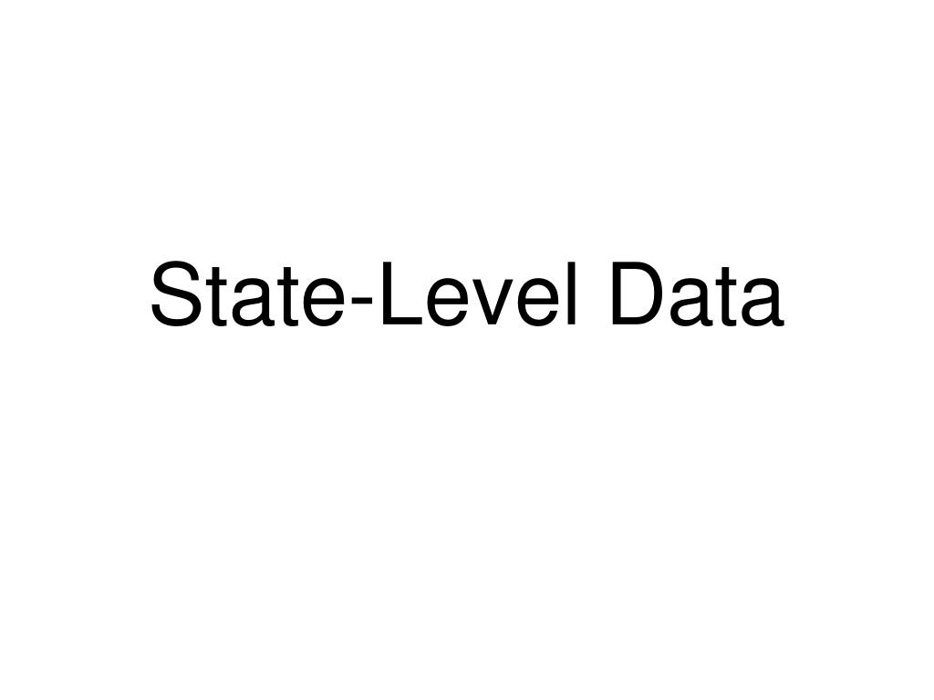 State-Level Data