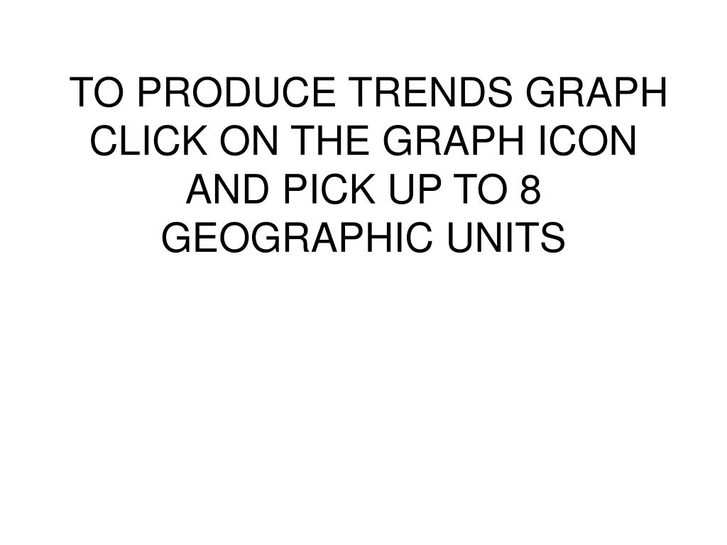 TO PRODUCE TRENDS GRAPH