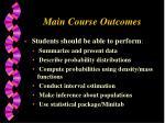 main course outcomes