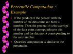 percentile computation example35