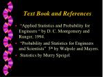 text book and references