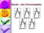 results site of bronchoplaties