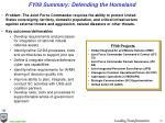 fy09 summary defending the homeland