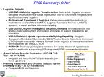 fy09 summary other