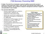 fy09 summary preventing wmd