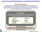 joint concept development and experimentation