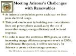 meeting arizona s challenges with renewables