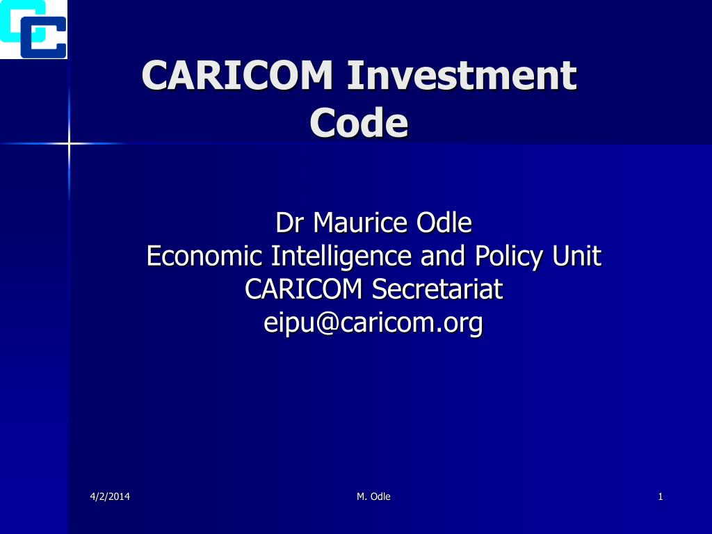 caricom investment code l.