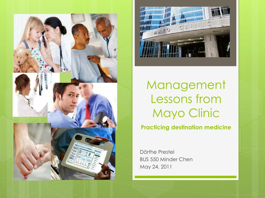 management lessons from mayo clinic l.