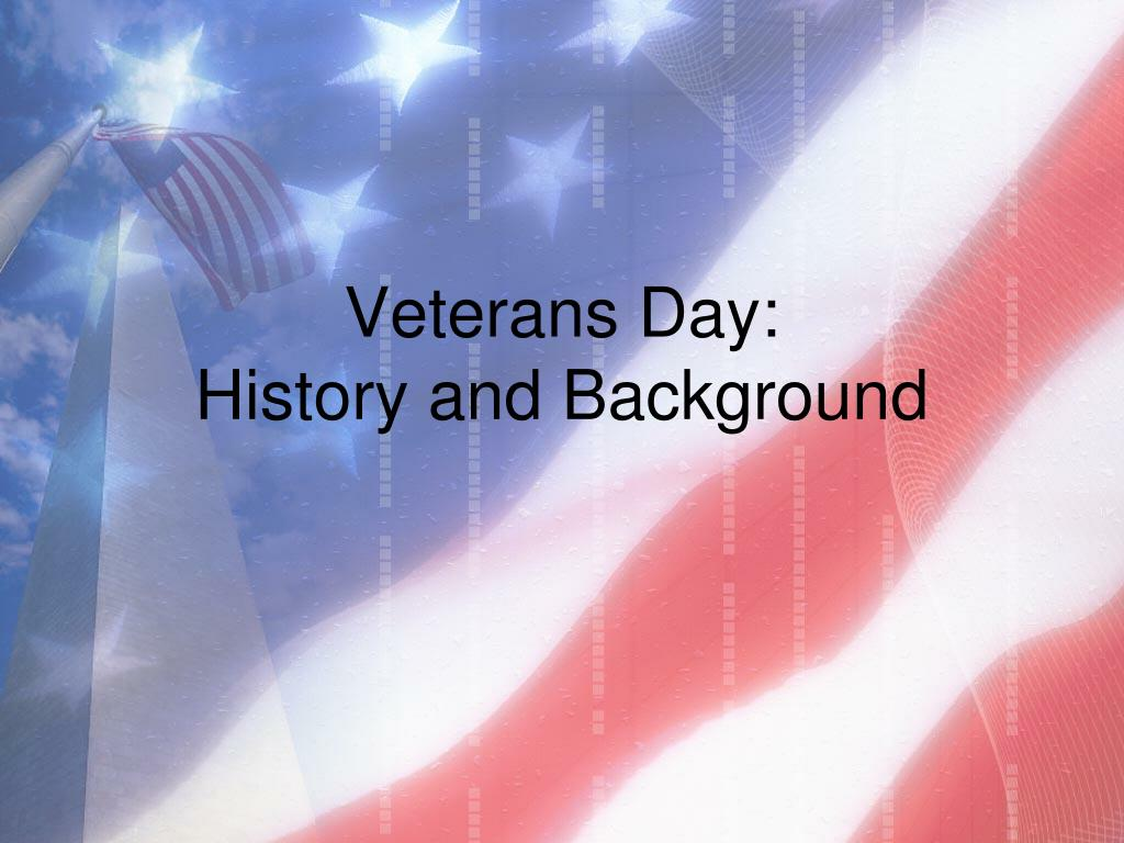 veterans day history and background l.