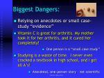 biggest dangers