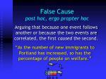false cause post hoc ergo propter hoc