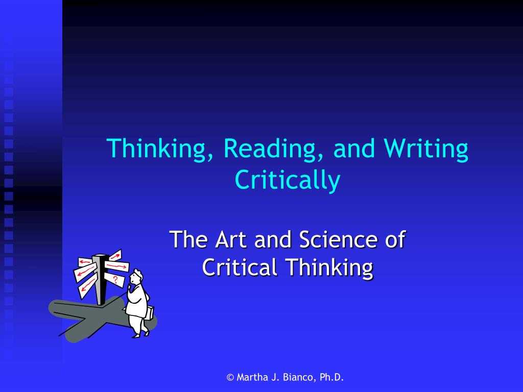 thinking reading and writing critically l.