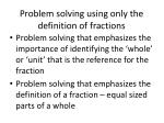 problem solving using only the definition of fractions