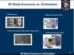 hp blade enclosure vs workstation