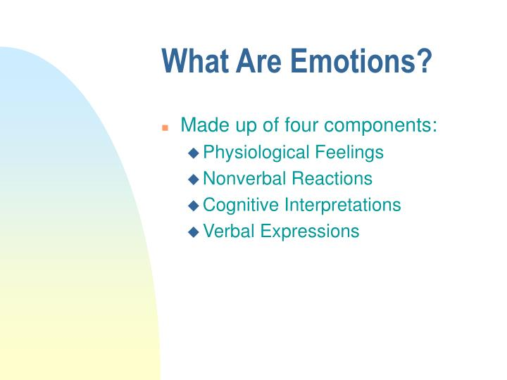 what are emotions n.