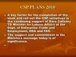 csp plans 20105