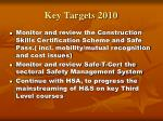 key targets 201011