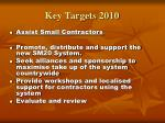 key targets 20109