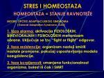 stres i homeostaza