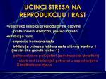 u inci stresa na reprodukciju i rast
