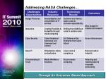 addressing nasa challenges