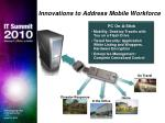 innovations to address mobile workforce