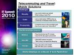 telecommuting and travel mobile solutions