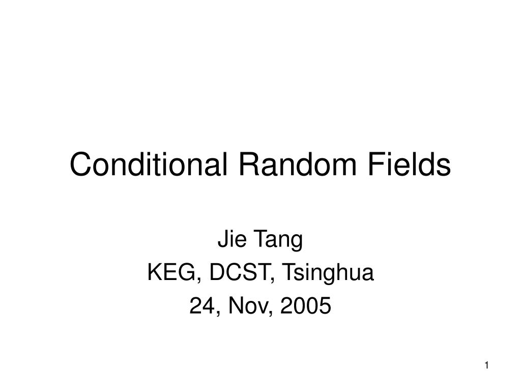 conditional random fields l.