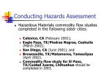 conducting hazards assessment